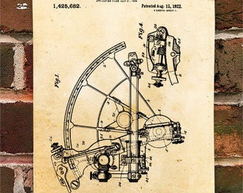 KillerBeeMoto: Duplicate of Original U.S. Patent Drawing For Vintage Sextant Design