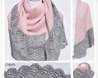 Knitting Pattern Lace Shawl Cascada
