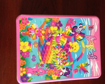 Vintage (1990s) The Fantastic World of  Lisa Frank Collectors Tin