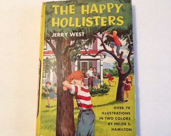 Vintage Children's Book The Happy Hollisters First in Series Book One Dust Cover Book Published 1953