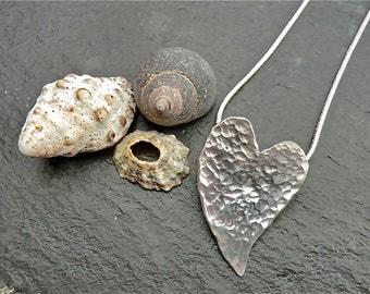 Smitten Pendant, heart, love, sterling silver