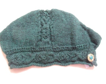 Handknit wool hat