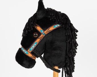 Black Stick Horse -Stick Pony- Hobby Horse