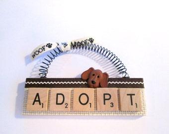 Adopt a Pet Scrabble Tile Ornament