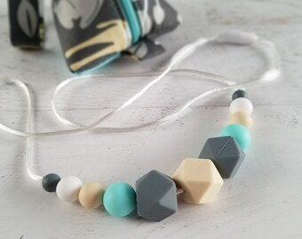 Gifts for Mom   Baby Teething Necklace   Nursing Sensory Necklace   Teething Jewelry   Teething Necklace Storage   Silicone Necklace