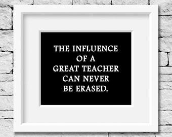 Teacher Quote, Teacher Print, Teacher Gift, Education Quote, School Decor, Classroom Decor, Gift for Teacher, Classroom Print, Teacher
