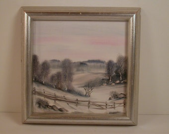 A.K. Dolven Miniature Painting, Landscape Painting by A.K.Dolven