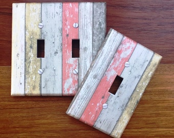 Rustic Wood Planks colored Light switch cover image 66 // ** SAME DAY SHIPPING