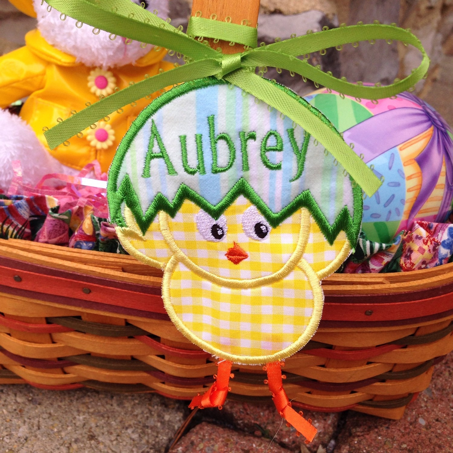 Easter Basket Tags Chick Embroidered by ExtraTouchGifts on ... - photo#49