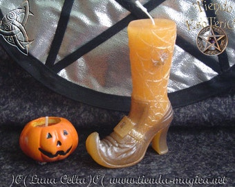 Candle Halloween witch shoe