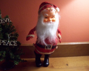 Vintage Free Standing Santa Claus w/ Movable Arms - Made in Japan - ca. 1950's