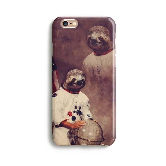 Astronaut Sloth - iPhone 7 case, Samsung galaxy S7 case iPhone 6 iphone 7 plus samsung galaxy S6 iphone SE 1P086A