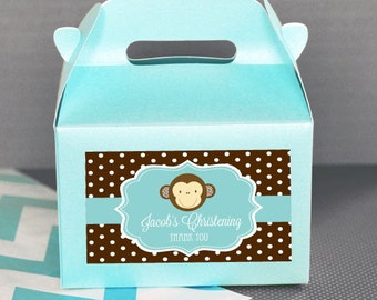 Personalized Baby Shower Favors-Baby Animal Baby Shower Favor Container-Mini Gable Boxes-Baby Shower Favor Boxes (Set of 24)