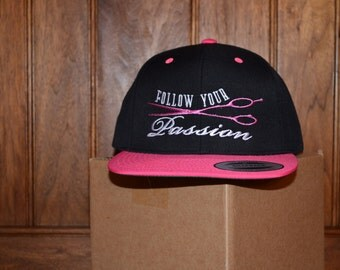 Follow your Passion hairstylist scissor hat
