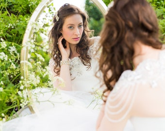 Stunning Bridal crystal & Lace Bridal Bolero