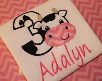Farm - Cow Birthday Shirt!!