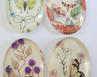 Butterfly Glass Cabochons