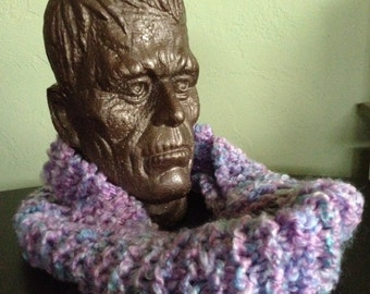 Lavender Colored Circle Scarf