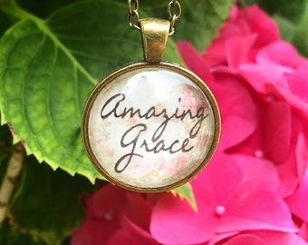 Amazing Grace pendant necklace