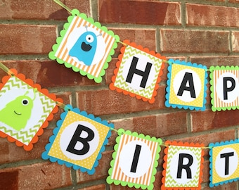 Little Monster Birthday Banner, Monster Birthday, Little Monster Party, Little Monsters Party Decor, Monster birthday decoration