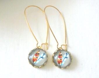 Tribal Feather Earrings, Bohemian Dangle Earrings, Southwestern Earrings