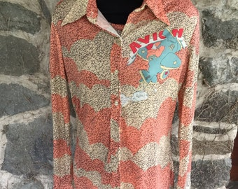 Long Sleeve 1970s Maggie Button Up Never Worn