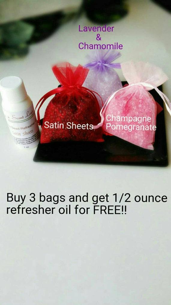 Aroma Beads Sachet Organza Bag Air Freshner Scented