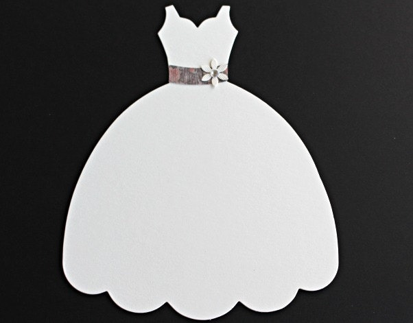 Large Die Cut Dress Form Ivory wedding Dress Sizzix Fabi