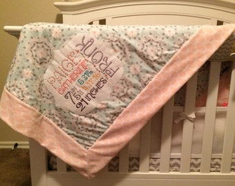 Premium Custom Birth Announcement Blanket