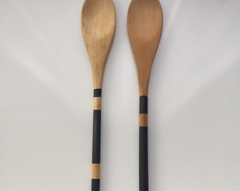 Painted Wooden Spoon-Black Collection