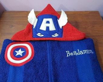 Captain America Hooded Towel