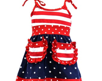 Red, White, & Blue Tunic Dress