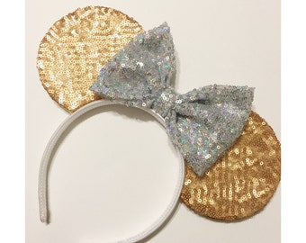 Twinkle Gold Sequin Mouse Ears