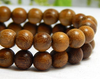 8mm Robles Wood Beads, 8mm Round Wood Beads, Brown Beads, Robles Wood Beads, 8mm Wood Beads, Wooden Beads, High Quality Wood Beads, D-P01