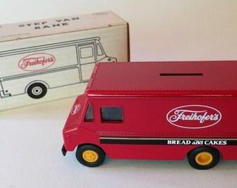 Vintage ERTL Freihofer's Step Van Bank