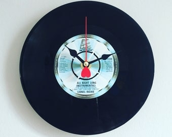 Lionel Richie All Night Long 7inch Vinyl Record Clock