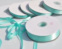 100yards Tiffany Blue Satin Ribbon ,aqua Trim, Craft, Wedding trimming, Cards ribbon wholesale