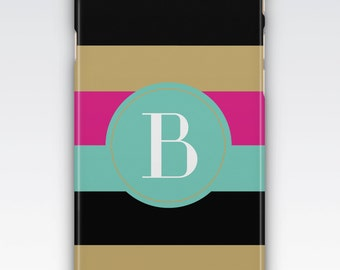 Case for iPhone 8, iPhone 6s,  iPhone 6 Plus,  iPhone 5s,  iPhone SE,  iPhone 5c,  iPhone 7,  Bold Stripes Monogrammed