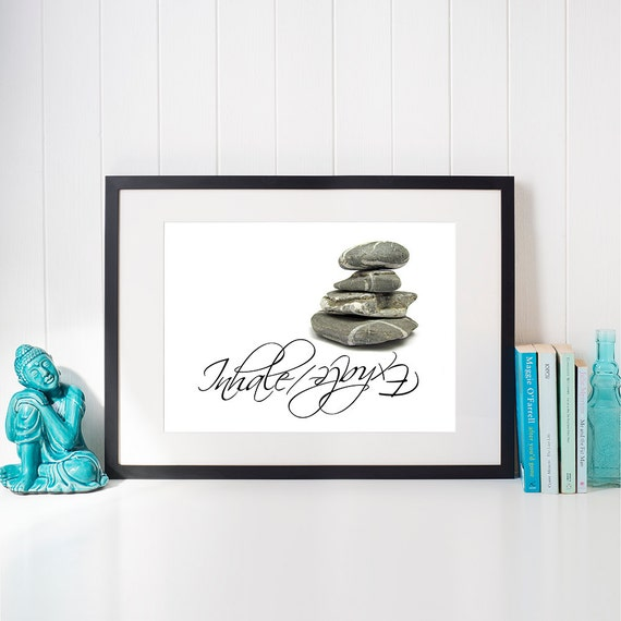 Zen Bedroom Wall Decor : Zen bedroom decor printable inhale exhale inspirational by