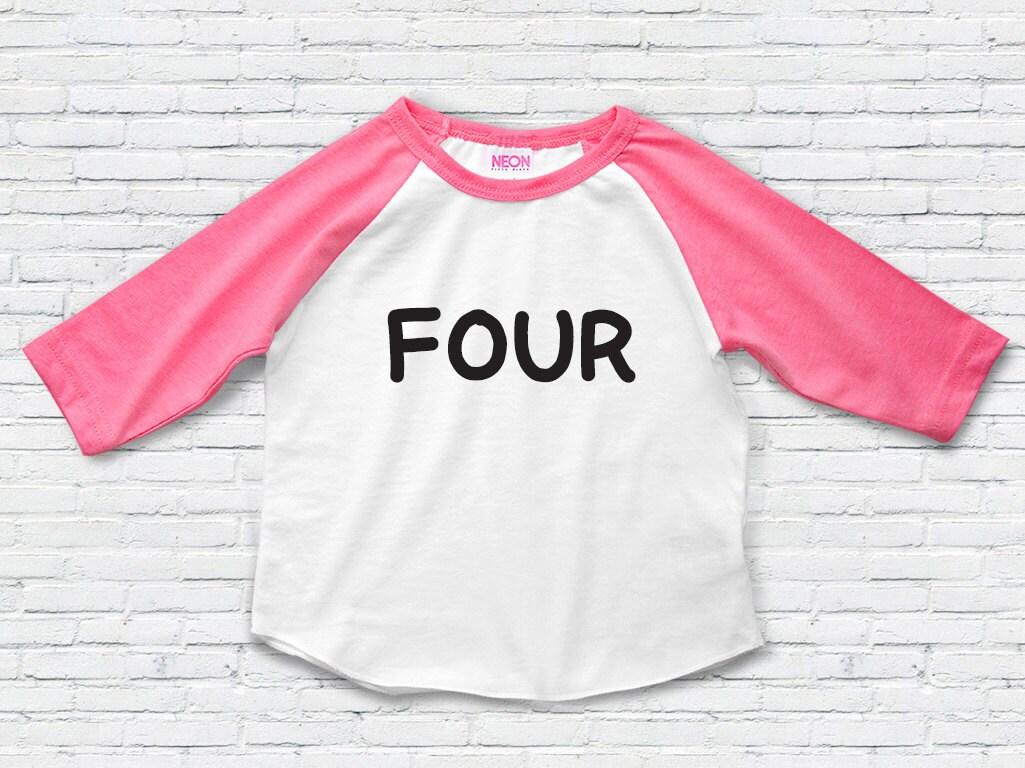 Toddler girl 4th birthday shirt