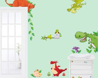 Removable Wall Stickers - Dragon Wall Decals - AW0002