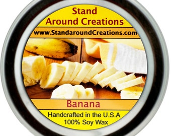 Premium 100% Soy Candle - 2oz Tin - Scent: Banana