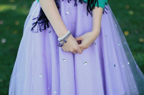 Tulle skirt, Rhinestone Lilac Tulle skirt, Glitter, Holiday Tulle skirt, Tulle Skirt, Gown, Christmas Skirt, Wedding Skirt, icy collection