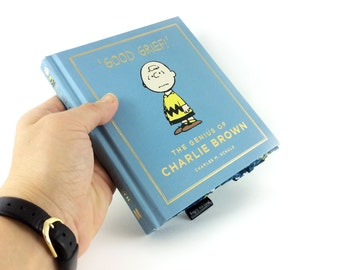 "Charlie Brown Coin Purse, Charles M. Schulz, Book purse, Good grief Charlie Brown! Bookish gift, Cartoon gift, ""Happiness is a warm puppy"""