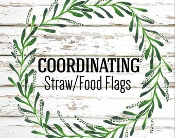 Party Package Add On Coordinating Straw Flags