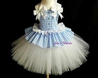 Dorothy Costume  Dorothy birthday custom, girls photo drop, Dorothy birthday dress