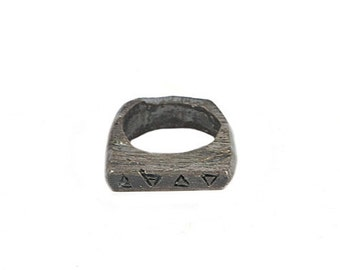 Alchemy Elements Oxidised Sterling Silver Ring