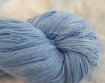 Bluebell Lace Organic Cotton Yarn, Organically Hand Dyed Organic Cotton Lace Yarn, Vegan Yarn, Organic Yarn