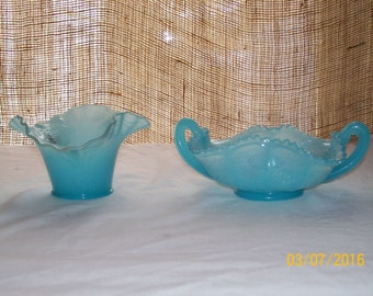 Fenton Persian Blue Flowering Dill and Pond Lily