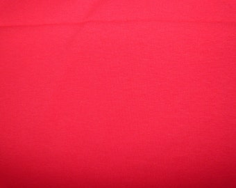 Fabric - cotton jersey fabric - red - fat quarter